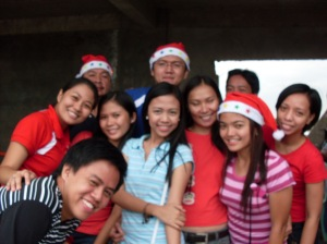 Singles For Christ group at Gawad Kalinga Christmas Party