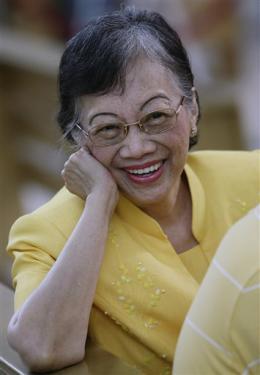 "President Corazon ""Cory"" Aquino in her fondest smile"