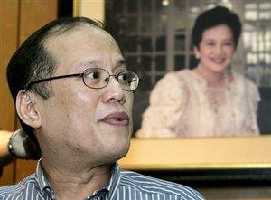 Sen. NoyNoy Aquino announces his candidacy for the presidency on Sept 9, 2009