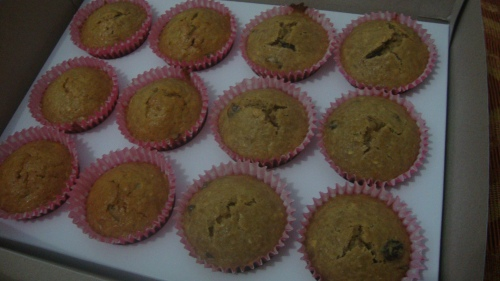Banana-Raisin Muffins by Little Miss Summer