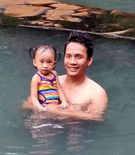 My favorite pic of daddy and Summy during our first family trip together in Bacolod. Dec 2014